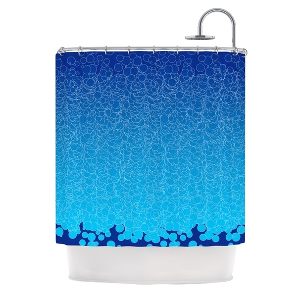 KESS InHouse Frederic Levy-Hadida 'Bubbling Blue' Shower Curtain (69x70)