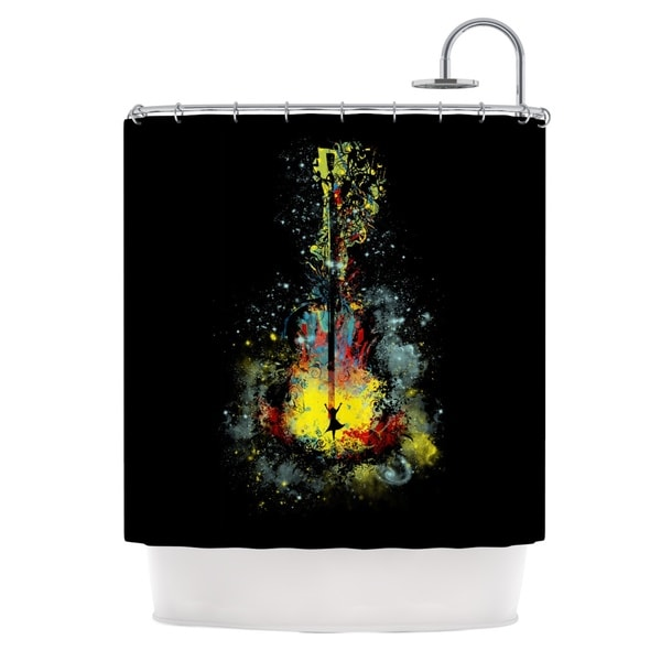 KESS InHouse Frederic Levy-Hadida 'Midnight Syphony' Shower Curtain (69x70)