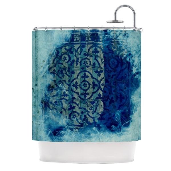 KESS InHouse Frederic Levy-Hadida 'Mosaic in Cyan' Shower Curtain (69x70)