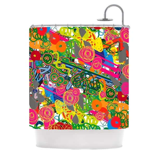 KESS InHouse Frederic Levy-Hadida 'Psychedelic Garden' Shower Curtain (69x70)