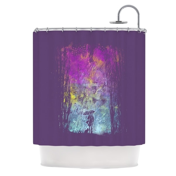 KESS InHouse Frederic Levy-Hadida 'Purple Rain' Shower Curtain (69x70)