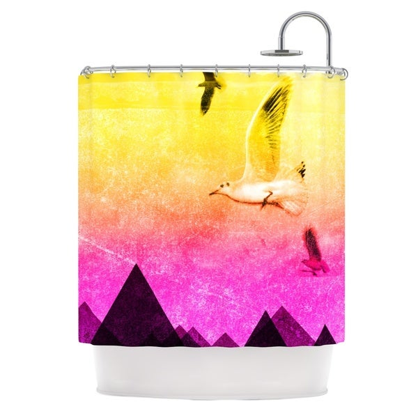 KESS InHouse Frederic Levy-Hadida 'Seagulls in Shiny Sky' Shower Curtain (69x70)