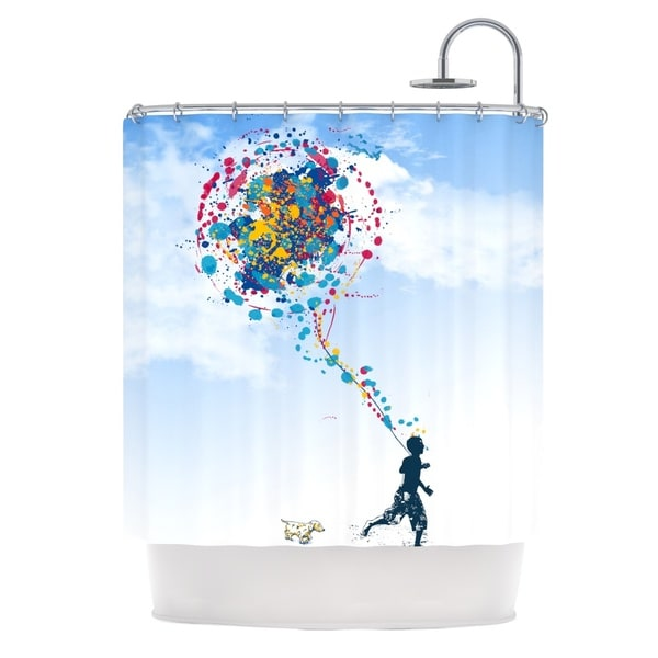 KESS InHouse Frederic Levy-Hadida 'Child Creation Chronicle' Shower Curtain (69x70)