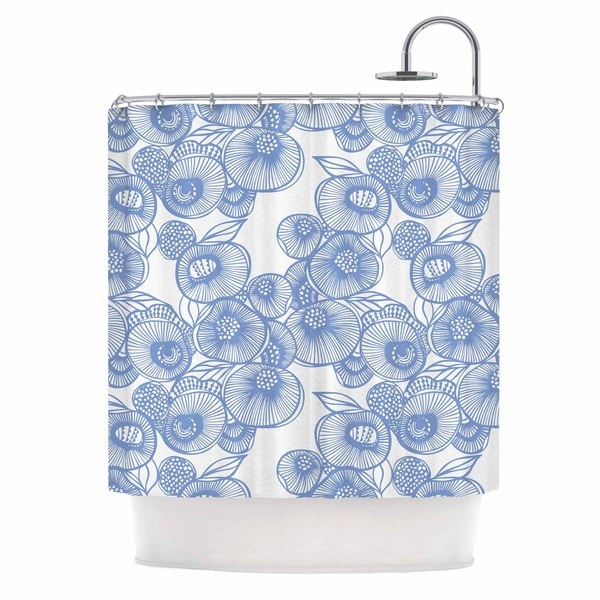 KESS InHouse Gill Eggleston 'Fenella Floral' Shower Curtain (69x70)