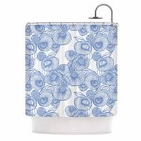 KESS InHouse Gill Eggleston 'Fenella Floral' Shower Curtain (69x70)