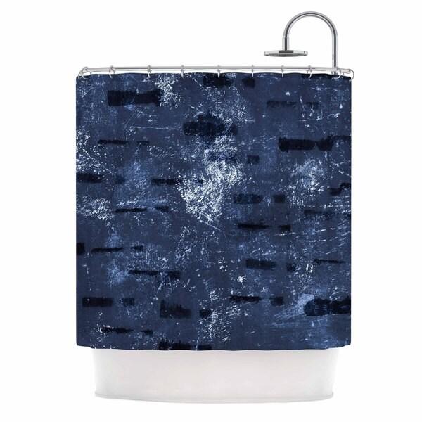 KESS InHouse Iris Lehnhardt 'Tex Mix Blue' Shower Curtain (69x70)