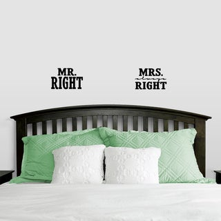 Mr. Right & Mrs. Always Right Small Wall Decals