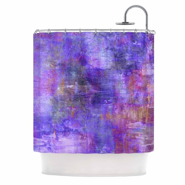 KESS InHouse Ebi Emporium 'Purple Fog' Shower Curtain (69x70)