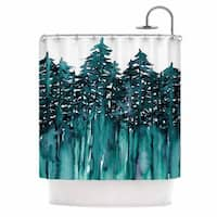 KESS InHouse Ebi Emporium 'Forest Through The Trees 5' Shower Curtain (69x70)