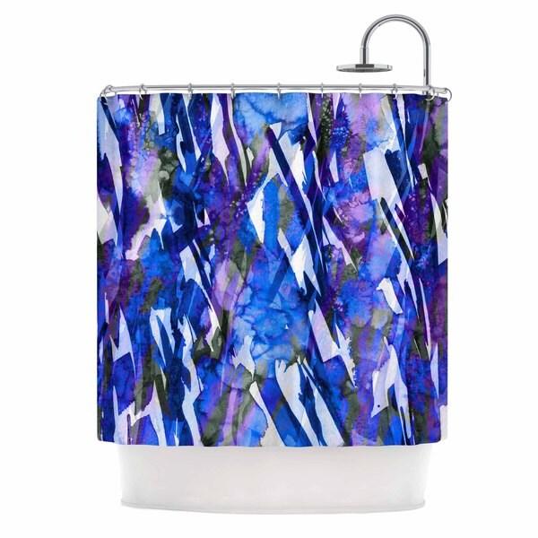 KESS InHouse Ebi Emporium 'Frosty Bouquet 3' Shower Curtain (69x70)