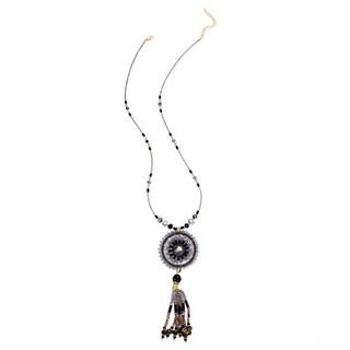 Handmade Saachi Beaded Dream Catcher Necklace (China)