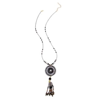 Saachi Beaded Dream Catcher Necklace (China)