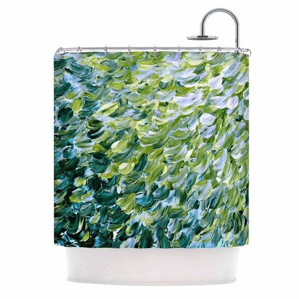 KESS InHouse Ebi Emporium 'Frosted Feathers 3' Shower Curtain (69x70)