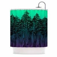 KESS InHouse Ebi Emporium 'Forest Through The Trees 9' Shower Curtain (69x70)