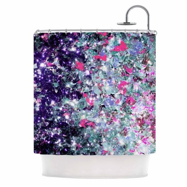 KESS InHouse Ebi Emporium 'In Perpetuity Purple Pink' Shower Curtain (69x70)