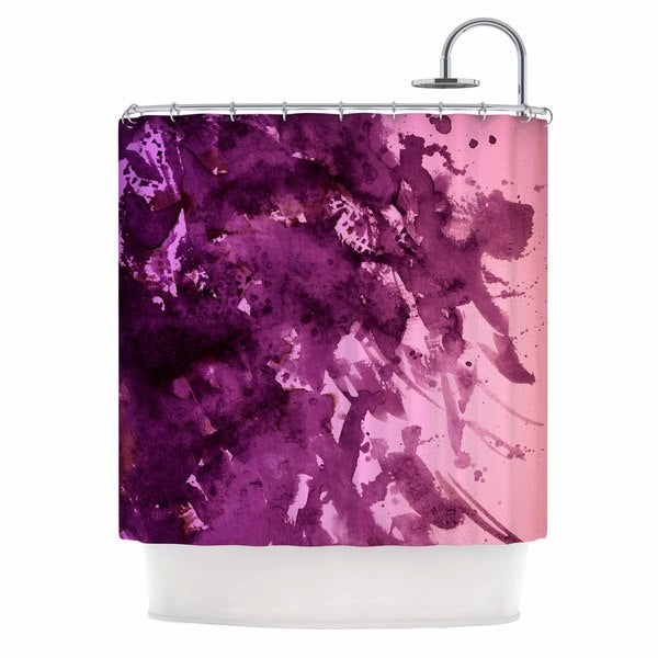 KESS InHouse Ebi Emporium 'Splash Out Purple Pink' Shower Curtain (69x70)