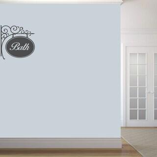 Bath Sign' 22 x 22-inch Wall Decal