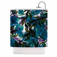 KESS InHouse Ebi Emporium 'Floral Fiesta Teal' Shower Curtain (69x70)