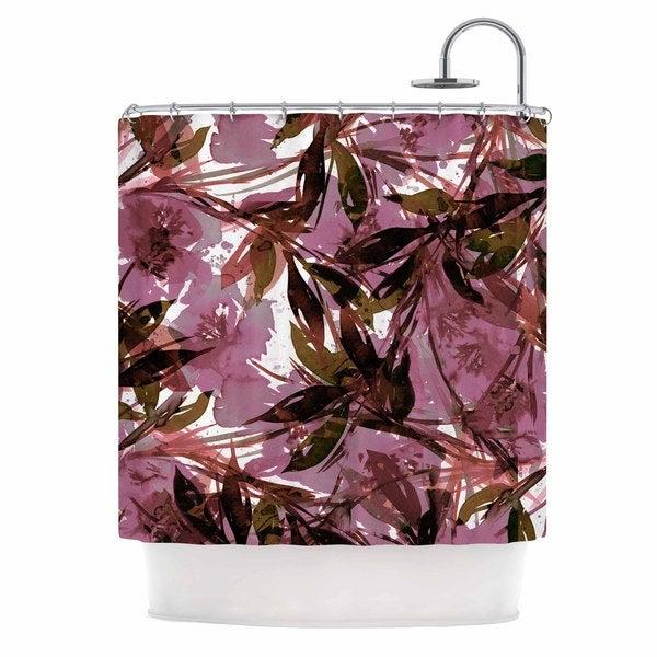 KESS InHouse Ebi Emporium 'Floral Fiesta Mauve Pink' Shower Curtain (69x70)