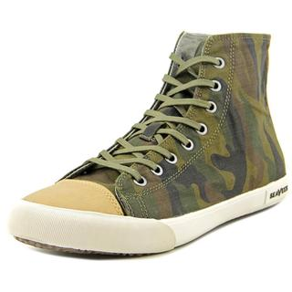 Seavees Men's Army Issue High Dharma Green Textile Basic Athletic Shoes