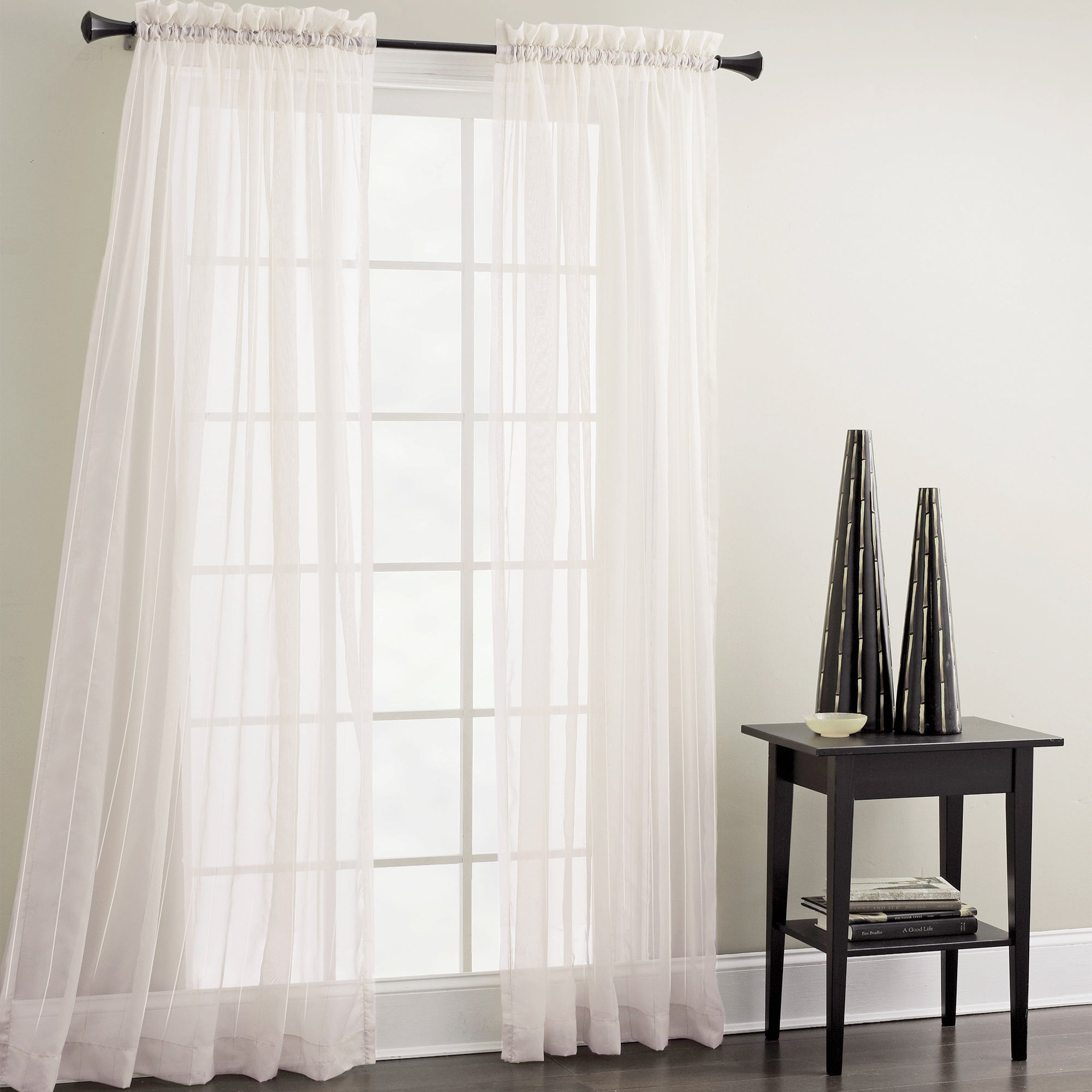 Croscill White Sheer Mist Window Panel (White), Size 84 I...