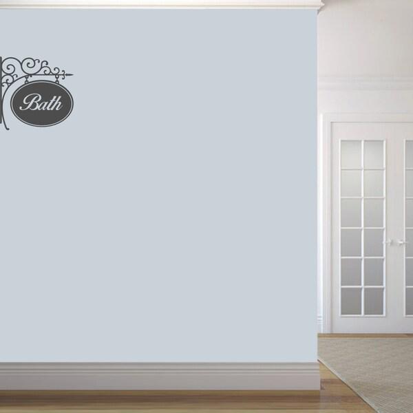 Bath Sign' 18 x 18-inch Wall Decal