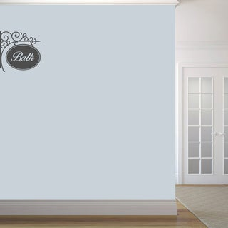 Bath Sign' 18 x 18-inch Wall Decal