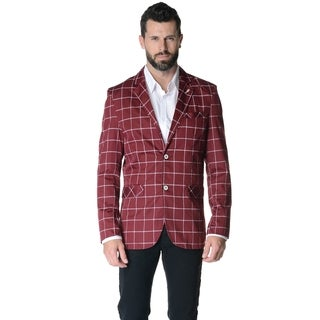 Men's Slim-fit Casual Plaid Sport Jacket