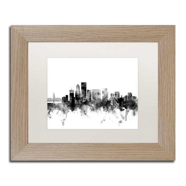 Shop Michael Tompsett \'Portland Oregon Skyline B&W\' Matted Framed ...