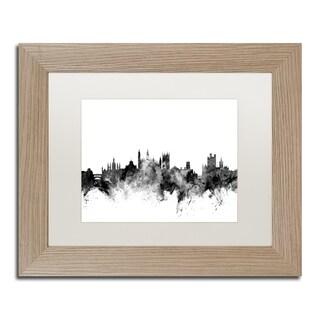 Michael Tompsett 'Cambridge England Skyline B&W' Matted Framed Art