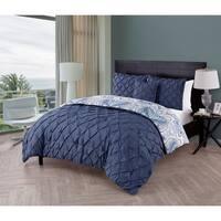 VCNY Maison 4-piece Reversible Pintucked Comforter Set