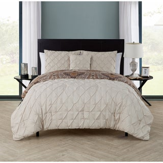 VCNY Maison 4-piece Reversible Pintucked Comforter Set (4 options available)