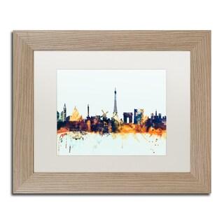 Michael Tompsett 'Paris France Skyline Blue' Matted Framed Art