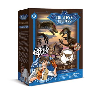 Geoworld Dr. Steve Hunters Paleo Expeditions Velociraptor Dino Excavation Kit