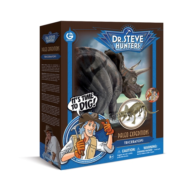 Geoworld Dr. Steve Hunters Paleo Expeditions Triceratops Dino Excavation Kit