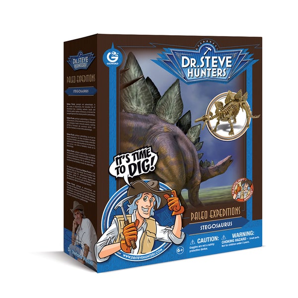 Geoworld Dr. Steve Hunters Paleo Expeditions Stegosaurus Dino Excavation Kit