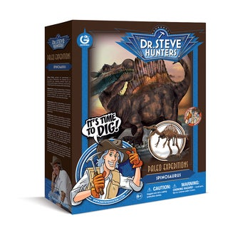 Geoworld Dr. Steve Hunters Paleo Expeditions Plastic Spinosaurus Dino Excavation Kit