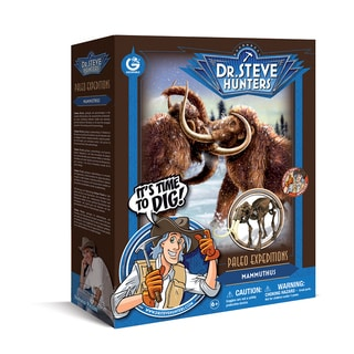 Geoworld Dr. Steve Hunters Paleo Expeditions Plastic Mammuthus Dino Excavation Kit
