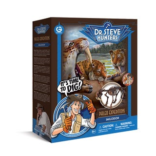 Paleo Expeditions Plastic Geoworld Dr. Steve Hunters Smilodon Dino Excavation Kit