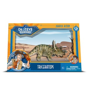 Geoworld Dr. Steve Hunters Medium Jurassic Action Triceratops