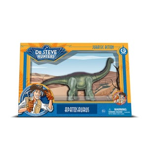 Geoworld Dr. Steve Hunters Multicolored Plastic Medium Jurassic Action Apatosaurus