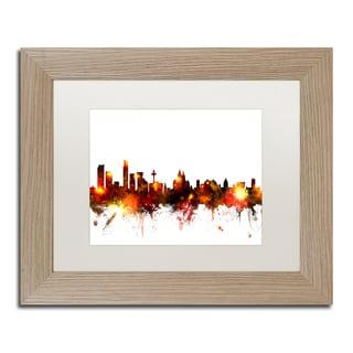 Michael Tompsett 'Liverpool England Skyline Red' Matted Framed Art