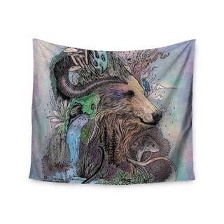 KESS InHouse Mat Miller 'Forest Warden' Bear Nature 51x60-inch Tapestry