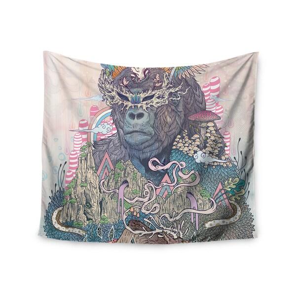 KESS InHouse Mat Miller 'Ceremony' Fantasy Gorilla 51x60-inch Tapestry