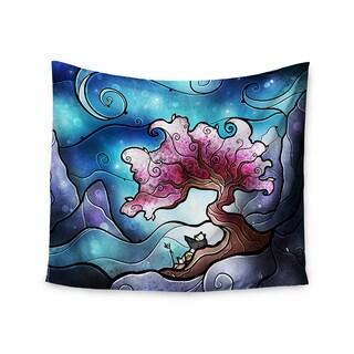 KESS InHouse Mandie Manzano 'You Must Believe' Blue Purple 51x60-inch Tapestry