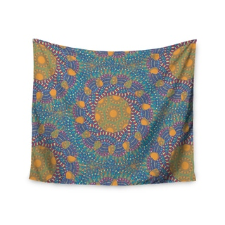 KESS InHouse Miranda Mol 'Prismatic Orange' Orange Blue Abstract 51x60-inch Tapestry