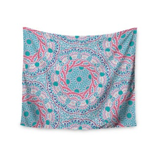 KESS InHouse Miranda Mol 'Prismatic White' Blue Pink Abstract 51x60-inch Tapestry