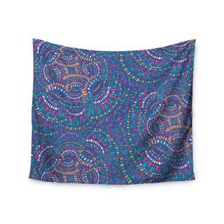 KESS InHouse Miranda Mol 'Kaleidoscopic Blue' Blue Geometric 51x60-inch Tapestry