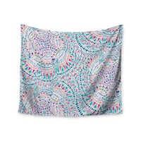 KESS InHouse Miranda Mol 'Kaleidoscopic White' Aqua Abstract 51x60-inch Tapestry