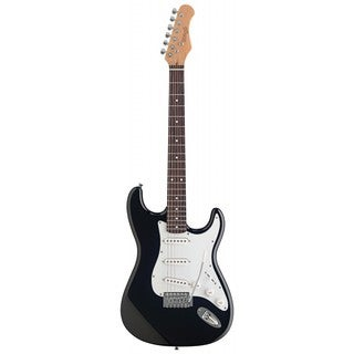 Stagg S300-BK Black/White Standard S Electric Guitar